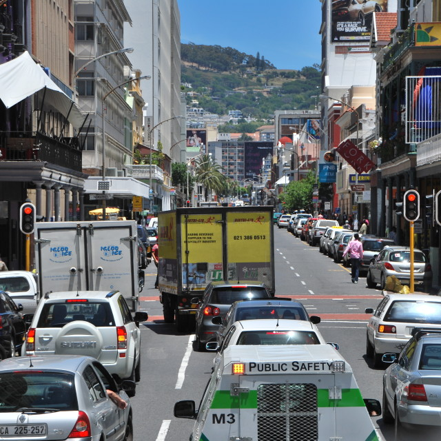 """Downtown Cape Town"" stock image"