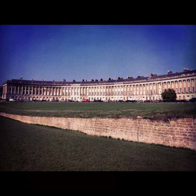 """Bath Royal Crescent"" stock image"