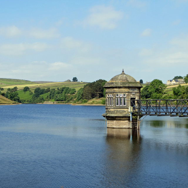 """Stanbury Reservoir"" stock image"