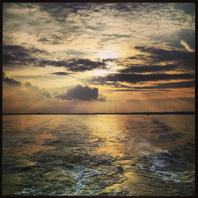 """The Estuary at Twilight"" stock image"