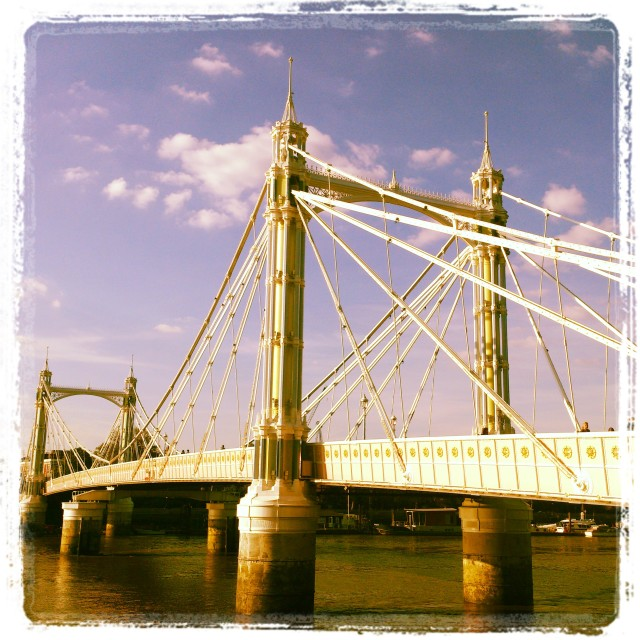 """The stunning Albert Bridge‏"" stock image"