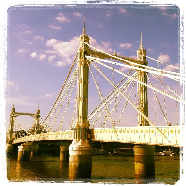 """The stunning Albert Bridge"" stock image"