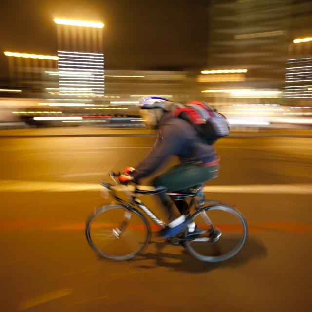 """Luminant Movement 2 Cyclist"" stock image"