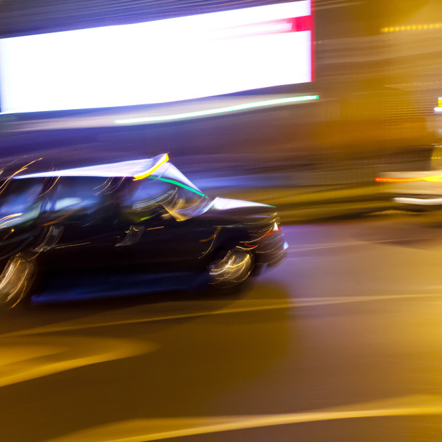 """Luminant Movement 5 Taxi"" stock image"