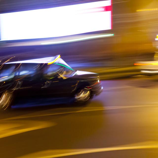 """Luminant Movement 5 Taxi"" stock image"