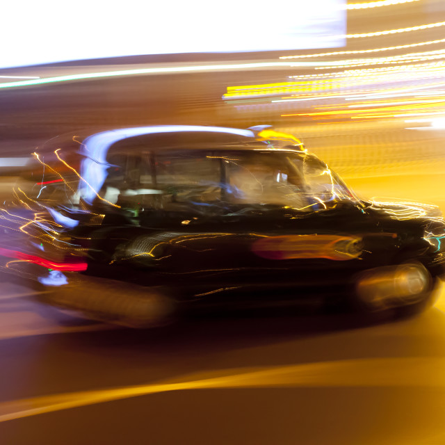 """Luminant Movement 6 Taxi"" stock image"