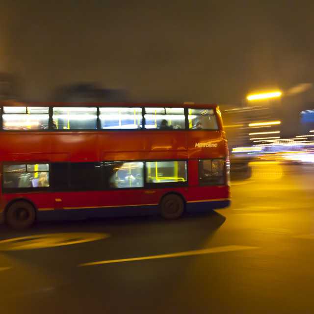 """Luminant Movement 6 London Bus"" stock image"