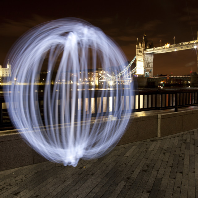"""Tower Bridge and Orb"" stock image"