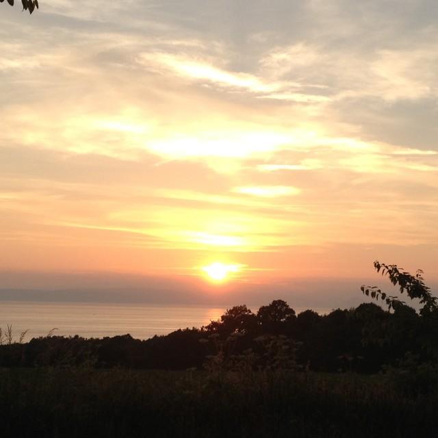 """Sunset over Arran"" stock image"