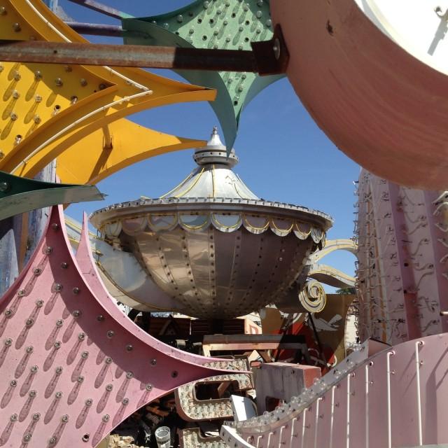 """""""Neon Museum, Las Vegas, USA."""" stock image"""