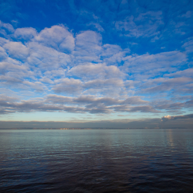 """Sky and water"" stock image"