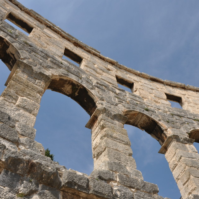 """The amphitheatre, Pula."" stock image"