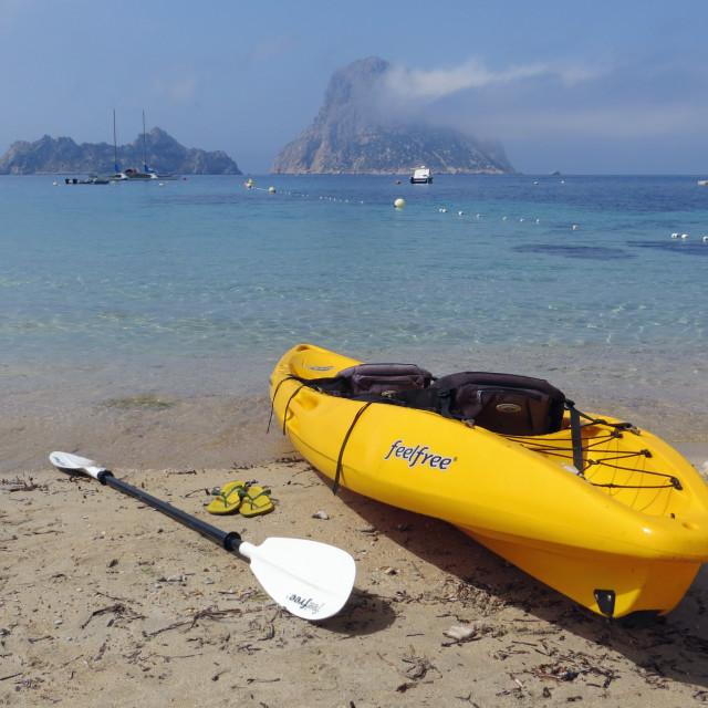 """""""Kayaking Ibiza"""" stock image"""