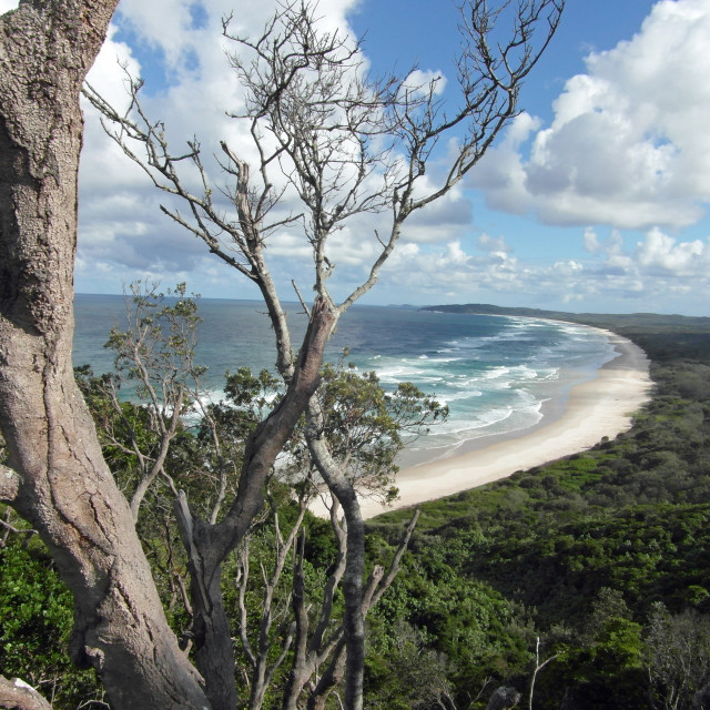 """Cape Byron view"" stock image"