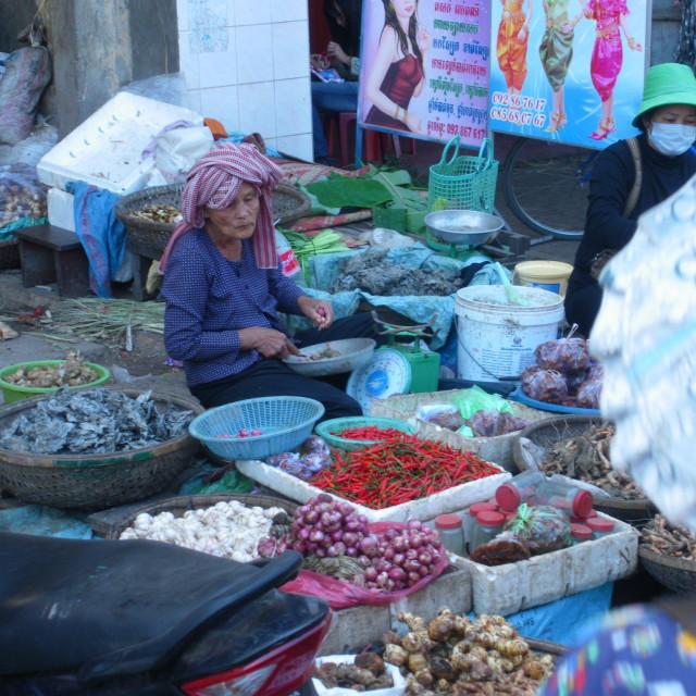 """""""Cambodian Market"""" stock image"""