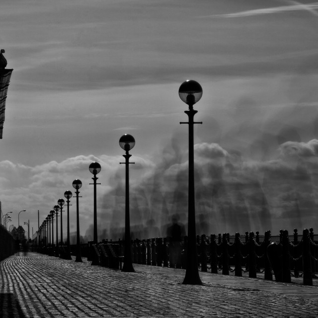 """10 seconds at the Albert Dock"" stock image"