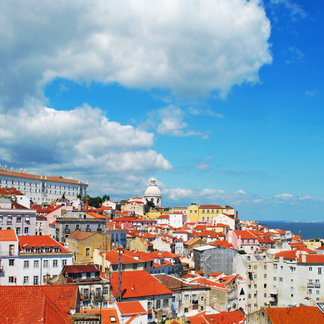 """Lisbon cityscape"" stock image"