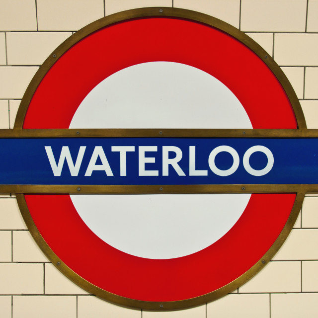 Waterloo Underground Station Sign License For 620 On Picfair