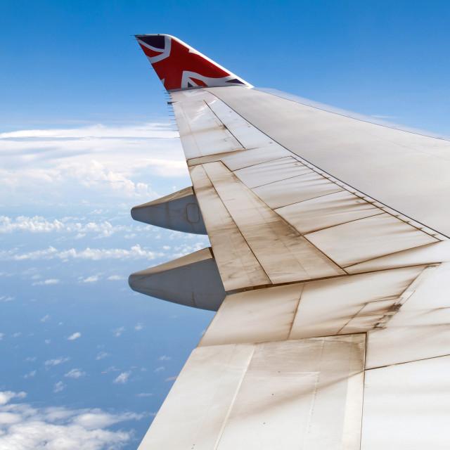 """""""Boeing 747 from Virgin Atlantic Airways"""" stock image"""
