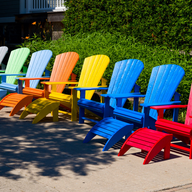 """""""Colorful chairs"""" stock image"""