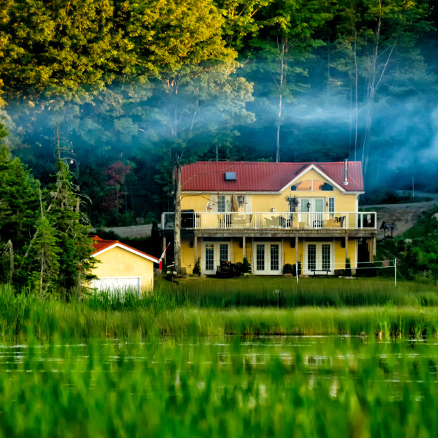 """House in the woods"" stock image"