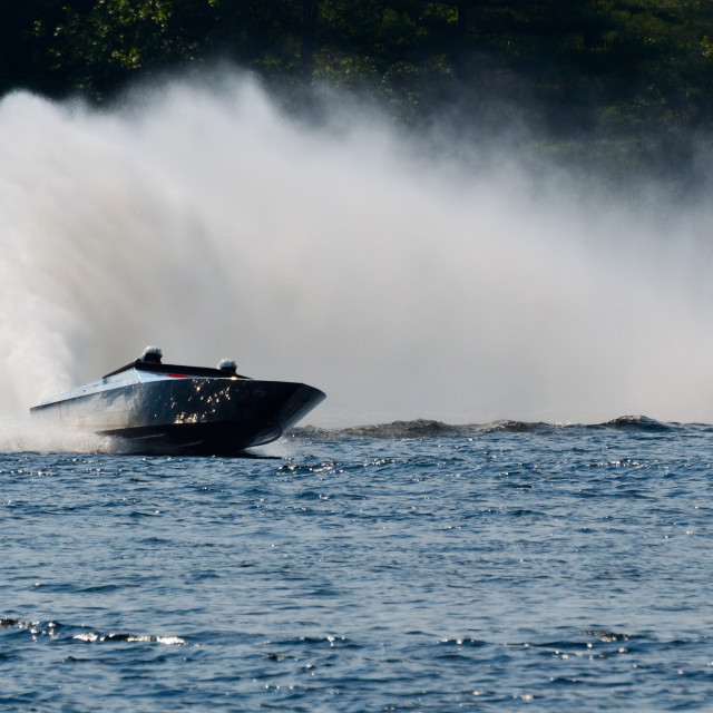 """Powerful speed boat"" stock image"