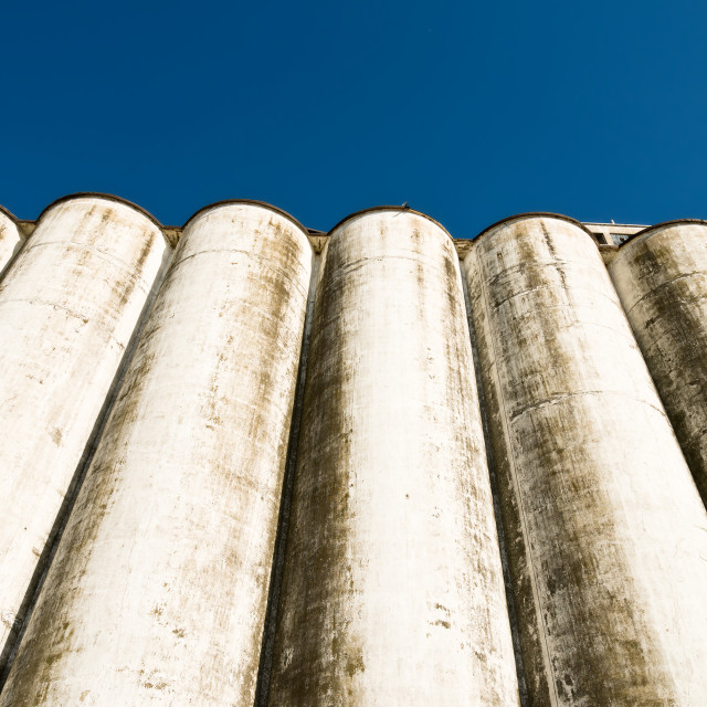 """old factory silos"" stock image"