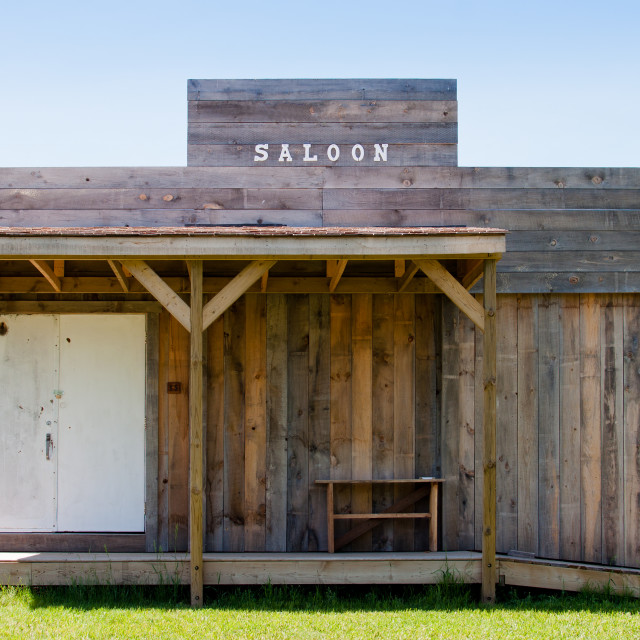 """Old saloon"" stock image"