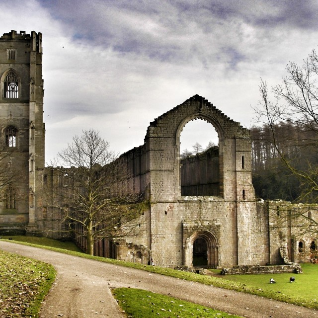 """Fountain's Abbey"" stock image"