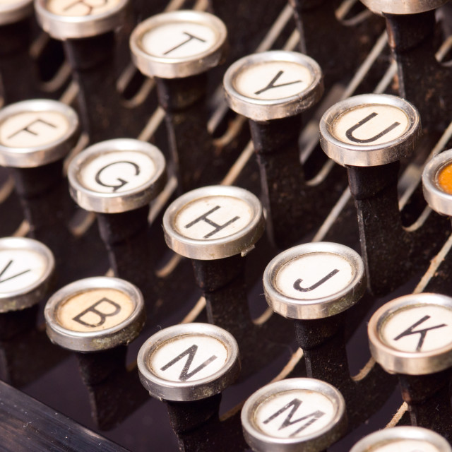 """Old typewriter"" stock image"