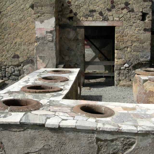 """Thermopolium in Herculaneum"" stock image"