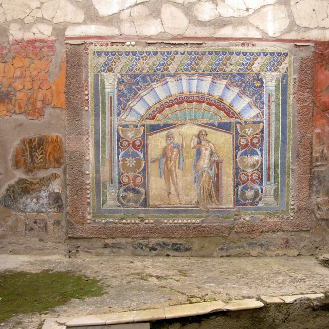 """House of Neptune and Amphitrite in Herculaneum - 2"" stock image"
