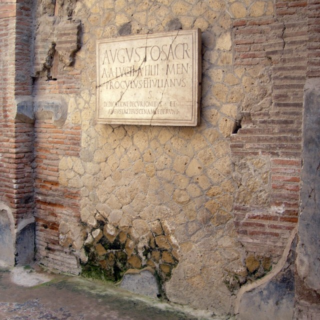 """Latin Inscription in Herculaneum"" stock image"