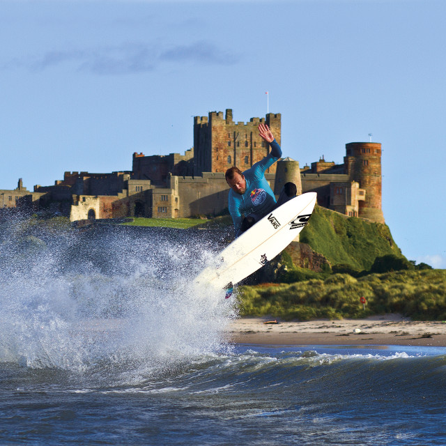 """Castle Surfing"" stock image"