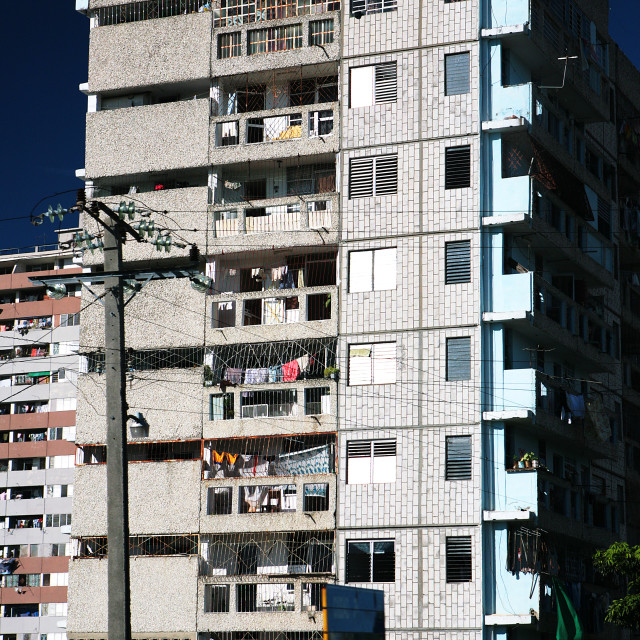 """Apartment block Cuba"" stock image"
