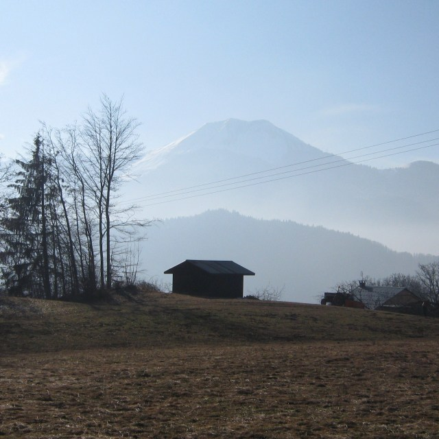 """Alpine cabin"" stock image"