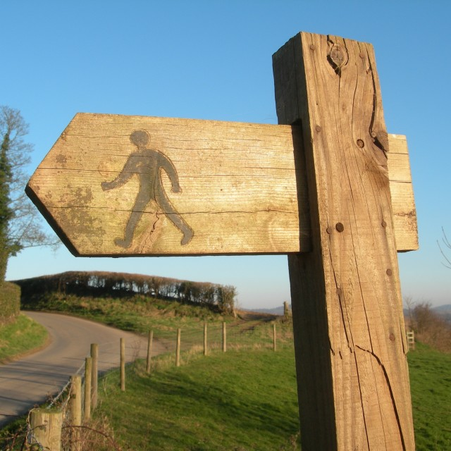 """Footpath Sign"" stock image"