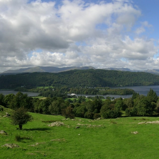 """English Lake District - Windermere Panorama"" stock image"