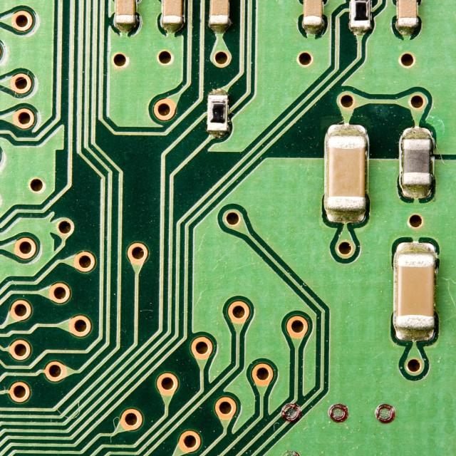 """Electronic circuit background"" stock image"