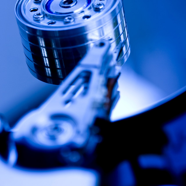 """Hard disk drive close-up"" stock image"