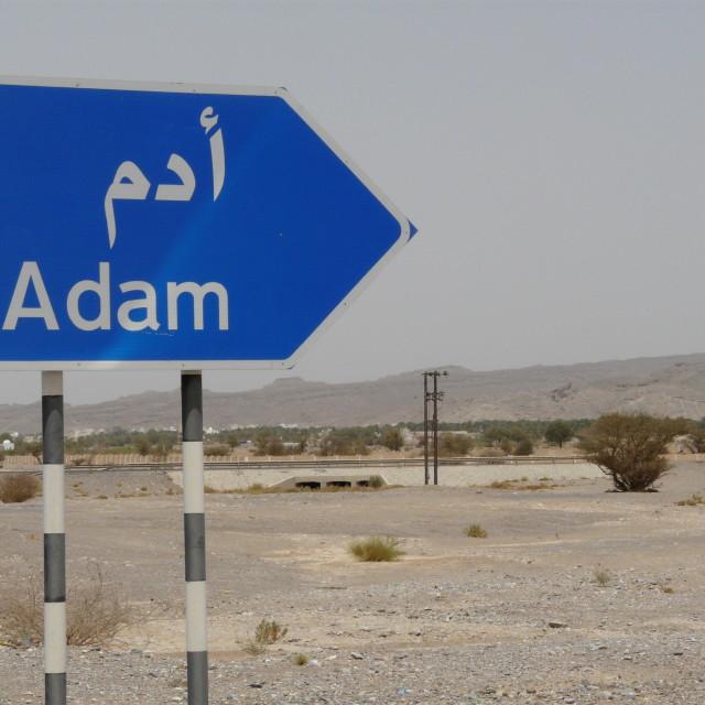 """Adam this way"" stock image"