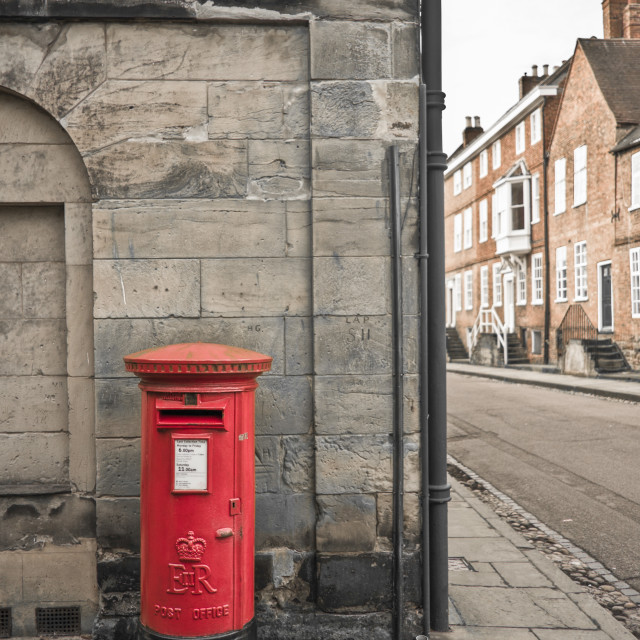"""Lichfield Postbox"" stock image"