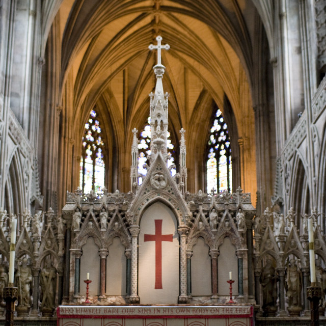 """Inside Lichfield Cathedral"" stock image"