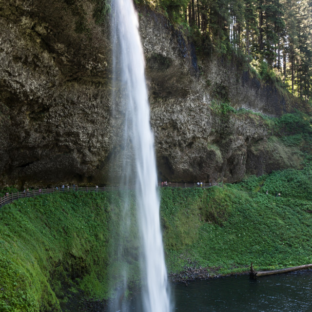 """Silver Falls"" stock image"