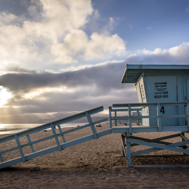 """Santa Monica Lifeguard Station"" stock image"