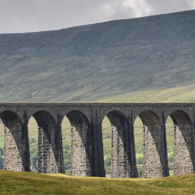 """Ribblehead Valley Viaduct"" stock image"