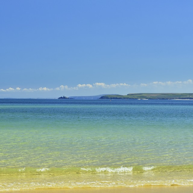 """View across St. Ives Bay"" stock image"