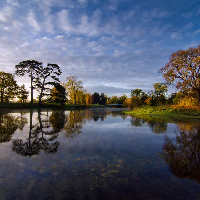 """Croome Park lake"" stock image"