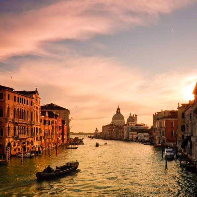 """Grande Canal Venice"" stock image"