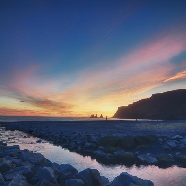 """""""Sunset at Vik, Iceland"""" stock image"""